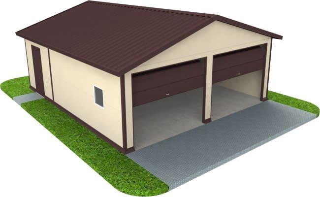Построить гараж из сэндвич-панелей в Новосибирске