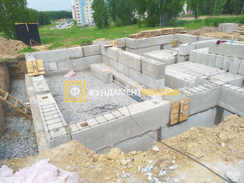 Строительство фундамента цокольный этаж в Новосибирске