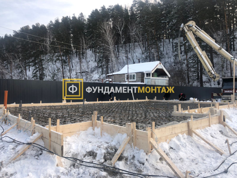 Фундамент плита в Новосибирске