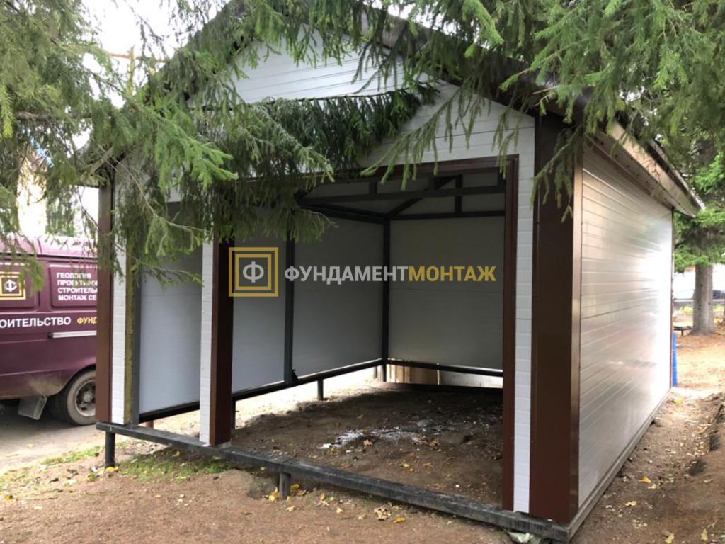 Строительство гаража из сэндвич панелей в Новосибирске
